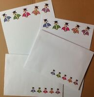 Wise Owls letter writing paper set with matching envelopes - cute stationery