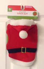 Pet Costume Dog Hoodie Santa Suit 1 Piece Sz XS Fits Most Dogs Up to 10 lbs NEW