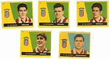 LOTE 5 CROMOS ANTIGUOS FUTBOL LIGA 1959-1960 ATLETICO de MADRID Football Cards !