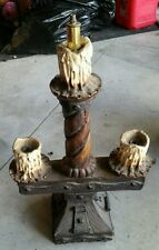 HALLOWEEN CANDELABRA 3 Candle LAMP Decor Prop Medieval times