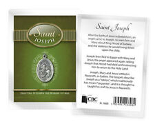 SAINT JOSEPH MEDAL AND BIOGRAPHY CARD IN A PLASTIC KEEPSAKE WALLET OTHERS LISTED