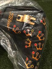 Original Black Mini Crowns Scotty Cameron putter head cover,