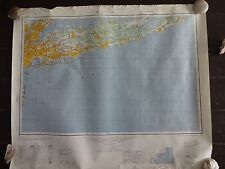 1947 - ANTIQUE Map of New York / Long Island - Topographic