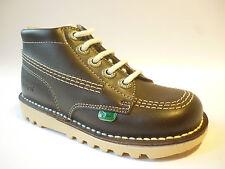 Kickers Kids Kick Hi Boys Boots Chocolate Brown Size 9 Bargain £36.99 Free Post