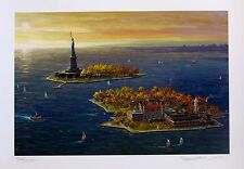 "ALEXANDER CHEN ""ELLIS ISLAND FALL"" Hand Signed Serigraph"