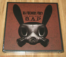 B.A.P BAP Badman 3rd Mini Album CD + STENCIL + PHOTOCARD with FOLDED POSTER NEW