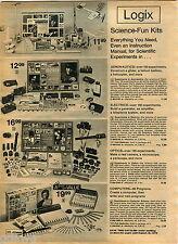 1974 ADVERT Logix Science Fun Kits Toy Computers Aeronautics Electrics Optics