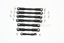 Traxxas Slash 4X4 LCG Upgrade Parts Aluminum Completed Tie Rod - 7Pcs Set Black