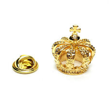 Golden 3D Crown Lapel Pin Badge Gifts For Him