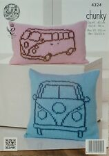 KNITTING PATTERN Campervan Outline design Cushions Chunky King Cole 4324