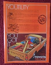 1978 Print Ad Toyota SR-5 Long Bed Sport Utility Pickup Truck ~ Power Toughness