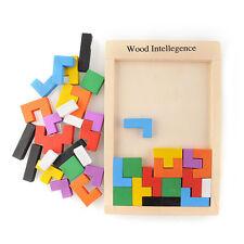 Brand New Wooden Tangram Brain-Teaser Puzzle Tetris  Preschool Toy Game  Child