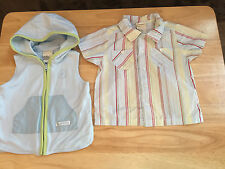 Baby Boy Laura Ashley Outfit Set 18 Month Shirt Hoodie Vest Surf Club Blue