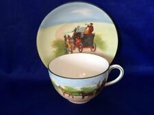 **RARE** Royal Doulton 'Coaching Days - Blue Sky' Cup & Saucer (E2768)