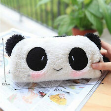 Kawaii Womens Panda Plush Pencil Case Pen Pocket Makeup Cosmetic Zipper Bag Hot