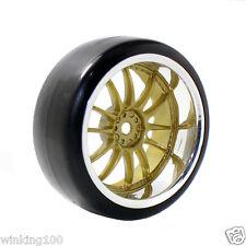 RC HSP 9003-6015 Hard Drift Tires & Plastic Wheel Rim For 1:10 On-Road Drift Car
