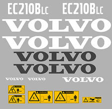 VOLVO EC210BLC DIGGER DECAL STICKER SET WITH SAFETY WARNING DECALS
