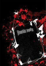 POSTER A4 PLASTIFIE-LAMINATED(1 FREE/1 GRATUIT)*MANGA DEATH NOTE.THE BOOK-LIVRE.