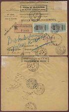 French sahara bandiagara enregistrés postes + télégraphes seal 1928 assurés mail