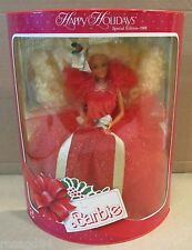 1988 Happy Holidays Barbie 1st Doll In Special Edition Series NEW Box Wears B2