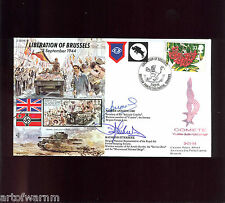 JS50/44/10  LIBERATION OF BRUSSELS 3 Sept. 1944 - signed RAF WW2 comm. cover