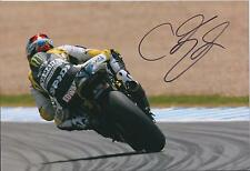 GENUINE RARE Colin EDWARDS SIGNED Yamaha MONSTER 12x8 Photo Autograph AFTAL COA