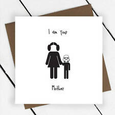Mother Birthday Card, Mother's Day Humorous Star Wars, Mum, Mummy, Princess Leia