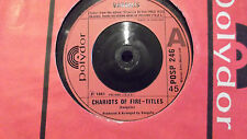 UK IMPORT !!VANGELIS CHARIOTS OF FIRE / ERIC'S THEME ON POLYDOR RECORDS