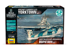 ZVEZDA 9203 WORLD OF WARSHIPS USS AIRCRAFT CARRIER YORKTOWN MODEL KIT 1/1200 NEW