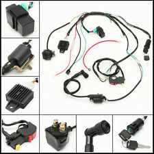 Wiring Harness Loom For CDI 50cc 110cc 125cc PIT Quad Bike ATV Solenoid Coil HOT