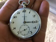 Moeris Swiss Made 1940's Vintage 15 Jewels manual wind Pocket Watch