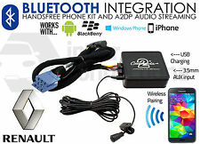 RENAULT streaming mains libres bluetooth appels ctarnbt003 aux USB MP3 iPhone Sony