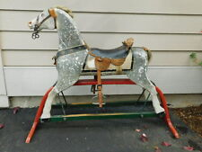 ANTIQUE WHITNEY REED ROCKING HOBBY HORSE GLIDER WOODEN PRIMITIVE FOLK VINTAGE