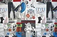Deko Möbel Patchwork Stoffe Gobelin Vorhang Gardine Pablos Mode & Style