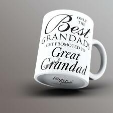 Only The Best Grandads Get Promoted To Great Grandad Printed Mug