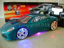 FERRARI SPIDER REMOTE CONTROL RC CAR LED LIGHTS B