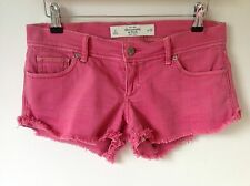 ABERCROMBIE & FITCH SIZE 0 W25 PINK HOTPANT SHORTS HOLIDAY BEACH BOHO HIPPY LOOK