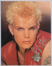 BILLY IDOL SIGNED 10X8 PHOTO, GREAT CLASSIC IMAGE - LOOKS GREAT FRAMED