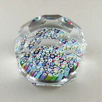 Whitefriars Glass Paperweight Large Facet Cut P10 Closepack Millefiore w1