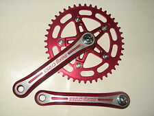 NOS Red Sugino Maxy Cross 170 crank set Vintage Old School BMX Freestyle