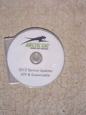 2012 Arctic Cat ATV Snowmobile Service Updates Manual Compact Disc CD   T