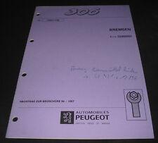 Werkstatthandbuch Peugeot 306 Bremsen Kontrolle Einstellung Stand 11/1998