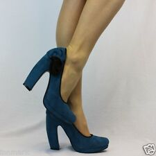 983 COMFORT CLASSY CURVED HEEL FAUX SUEDE COURT SHOES SIZE UK 3 - 7 EU 36 - 40