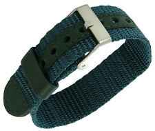 12-16mm Timex Nylon Ironman Triathlon Watch Band Strap Green