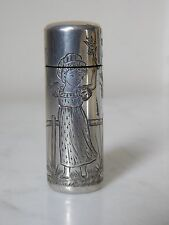 "SCARCE VICTORIAN SAMPSON MORDAN ""Kate Greenaway"" ENGRAVED SILVER SCENT BOTTLE"