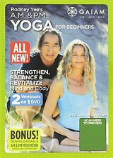 AM & PM YOGA FOR BEGINNERS (DVD) Rodney Yee A.M. and P.M. energize unwind NEW