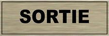 Placa para puerta aluminio señalización de cepillado DE puerta- SALIDA
