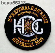 2005 HARLEY OWNERS GROUP HOG 15th NATIONAL AUSTRALIA NATIONAL PARK RALLY PATCH