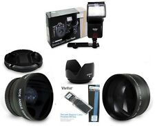 NIKON D90 D5300 D3200 D5100 D5200 D7000 A MUST HAVE LENS & FLASH Kit SHIPS FAST