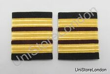 Epaulette,3 x 1/2 Gold with 2x1/4inch Maroon Engineers R154